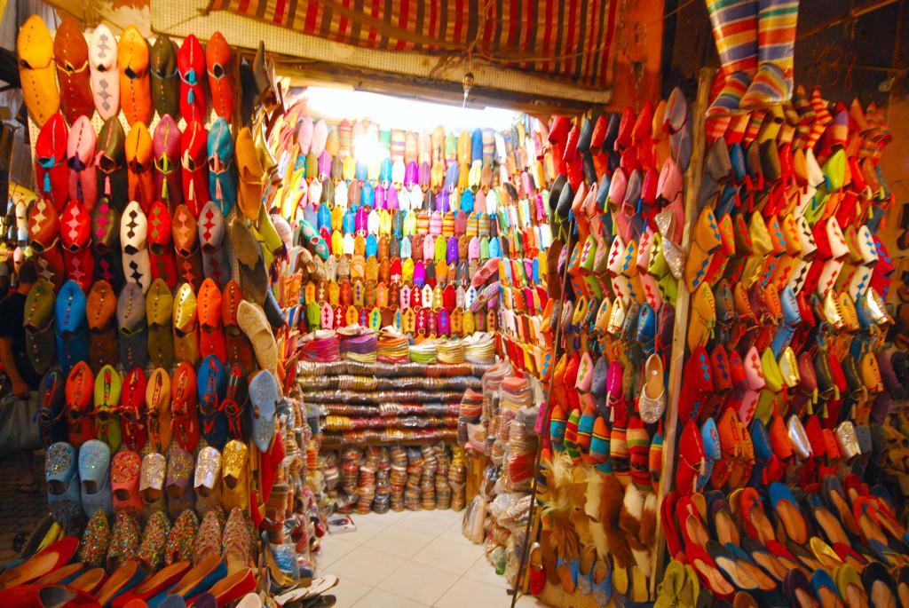 Babouches souk Marrakech