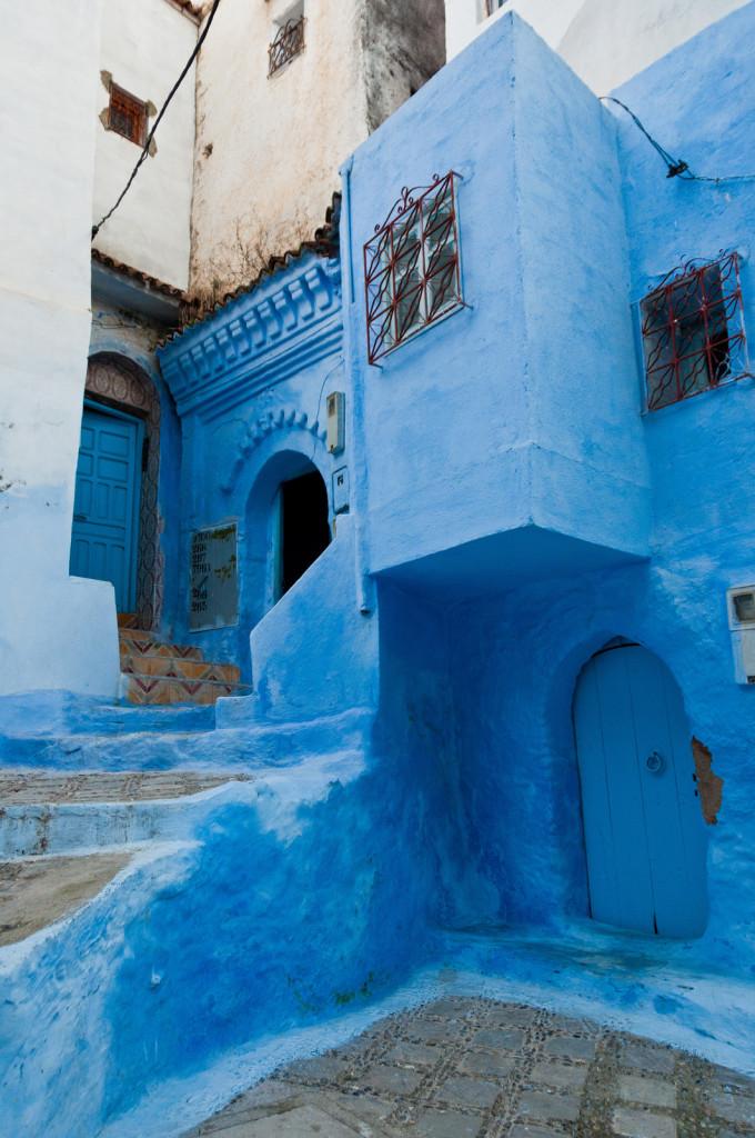 Blauwe straat Chefchaouen