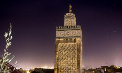 Bou Inania Madrasa minaret Fez