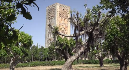Hassan toren in Rabat