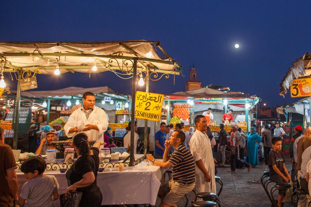 Marktkraam Djemee el Fna