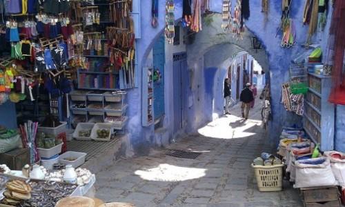 blauw stad chefchaouen