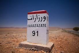 Kilometerpaal Ouarzazate